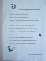 "Neuvième exposé ""Le football"" (1)"
