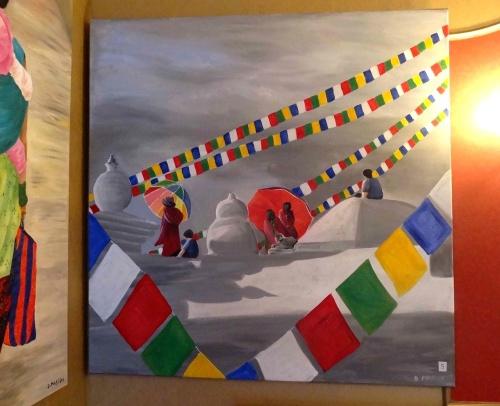 """""""Népalais"""", une superbe exposition de toiles de Dominique Masson, avoir à Saint Marc sur Seine.."""
