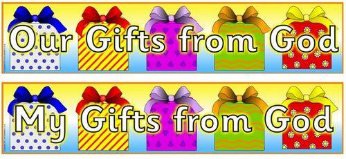 Bannières cadeaux de Dieu