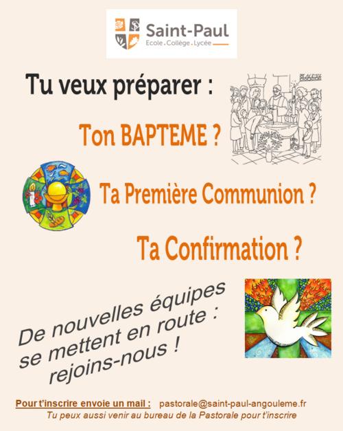 """Les équipes """"Baptême, Première Communion & Confirmation"""" se remettent en route"""