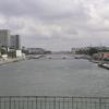 La Seine à Paris, avec Bercy à Droite et la Bibliotheque Françcois Mitterand à gauche
