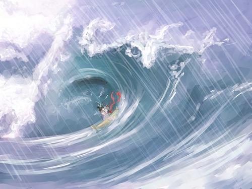Jingwei essaie de combler la mer