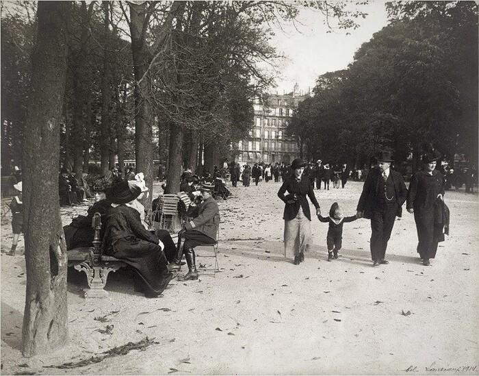 Le jardin du Luxembourg pendant la guerre de 14-18