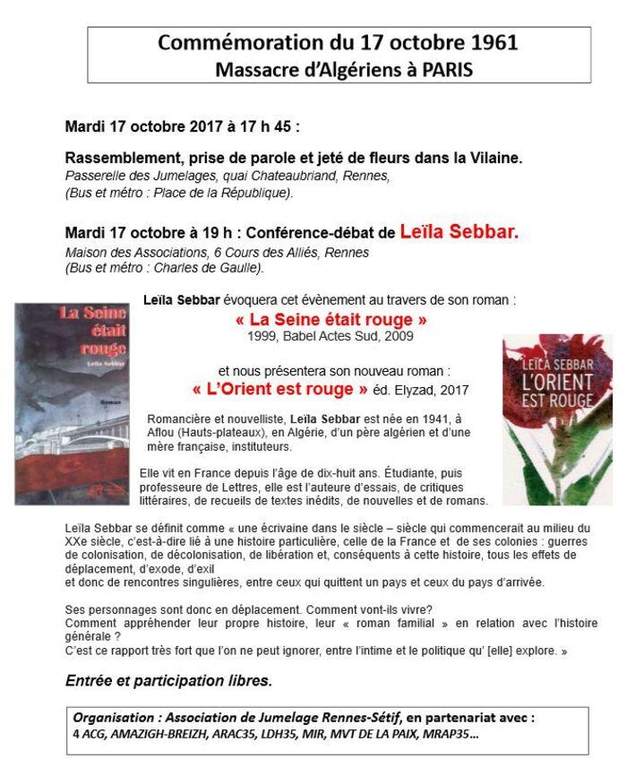 17 octobre 1961/ Plusieurs villes de France commémorent les massacres
