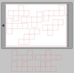 Géométrie dans l'espace - Patrons de cube à trier
