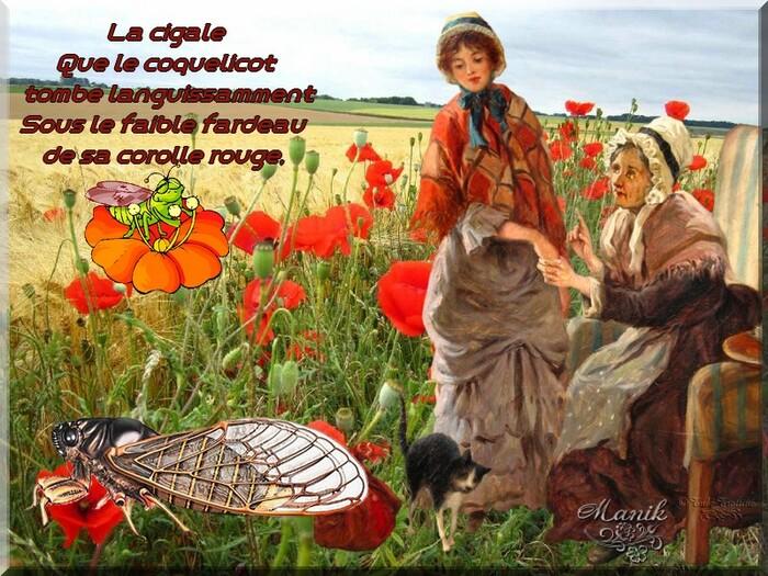 Les cigales ! de Jules Breton! défi blog partage Mimi07