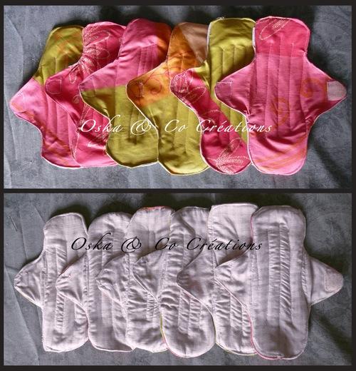 DIY facile Serviettes hygiéniques lavables fermeture velcro