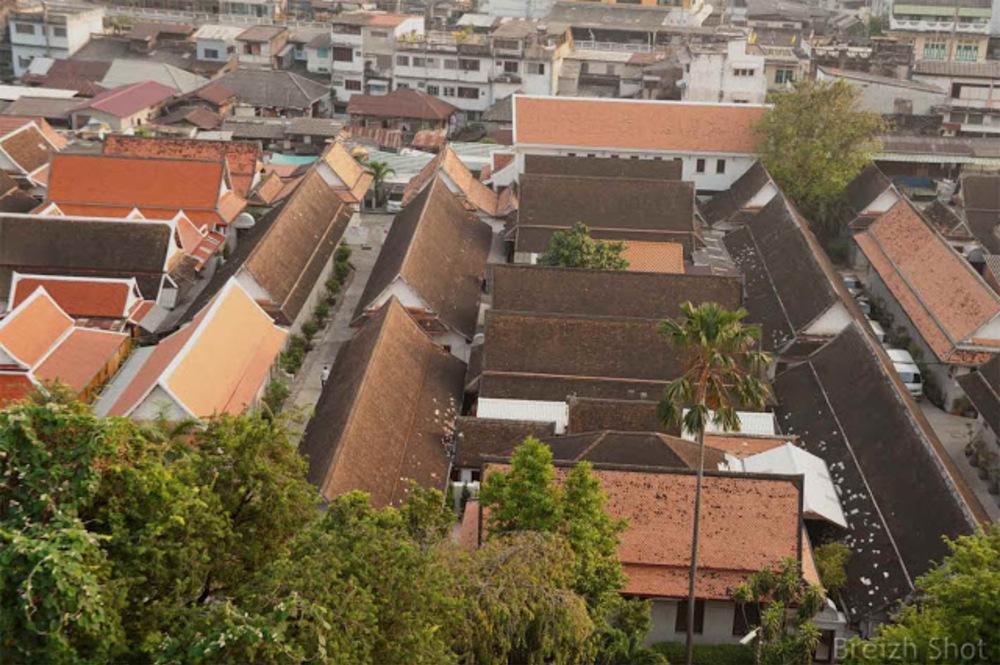 Montagne d'Or Bangkok - Wat Saket : Vue sur le Bangkok historique depuis la Montagne d'Or