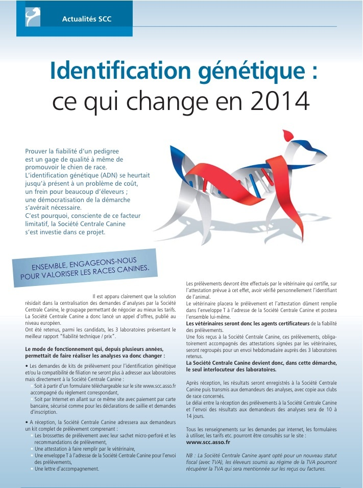 centrale canine adn