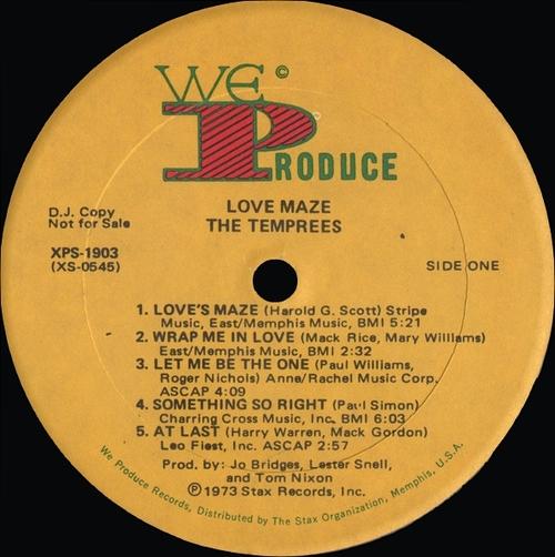 "The Temprees : Album "" Love Maze "" We Produce Records XPS-1903 [ US ]"