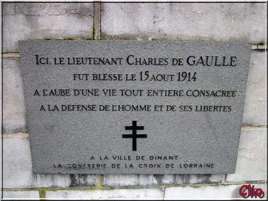 PLAQUE DE GAULLE - DINANT -RED