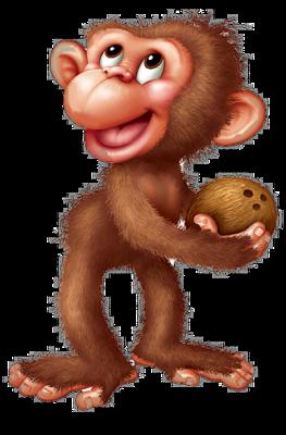 La guenon le singe et la noix denise47 - Dessin guenon ...