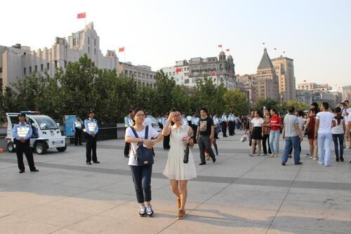 A Shanghaï, sur le Bund