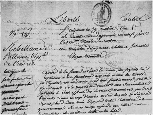 Palluau-sur-Indre, 1796 (4ème partie)....