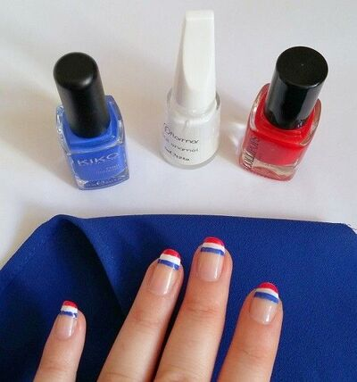 ∗ Nail Art ∼ Bleu Blanc Rouge : Les couleurs à la fête ∗