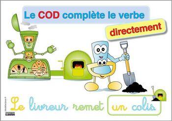 COD complete directement le verbe