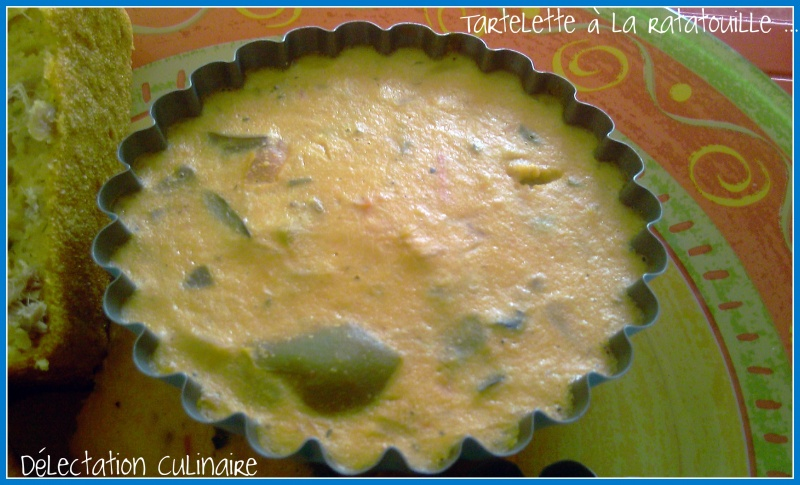 Tartelettes sans pâte à la ratatouille