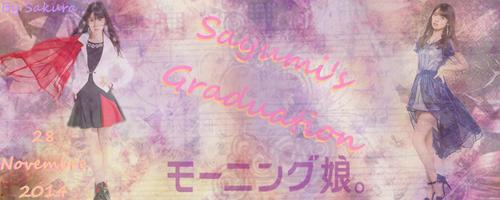 Gradution de Sayumi Michishige!