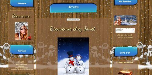 Bonhomme de neige et bois