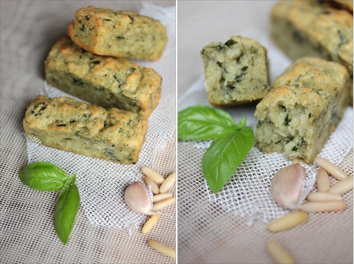 Mini-cakes au pesto {avec ou sans oeufs}