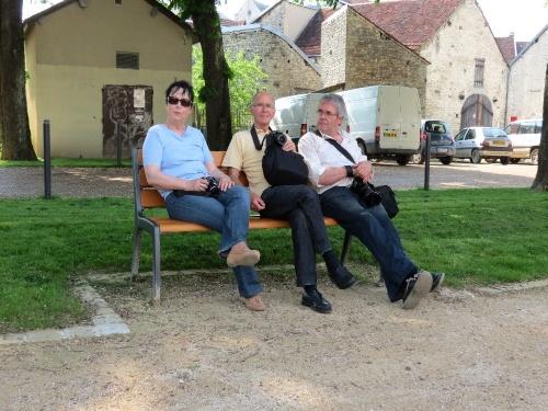 Le Club-Photo de la MJC Lucie Aubrac en balade à Essoyes...