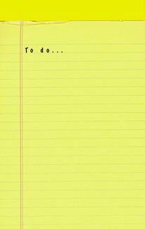 Qu'y a-t-il sur votre liste de choses à faire ?