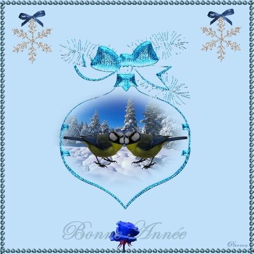 Deux Mésanges bleues vous souhaitent une Bonne Année