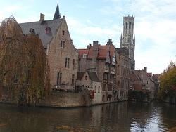 Balade à Bruges sous la pluie