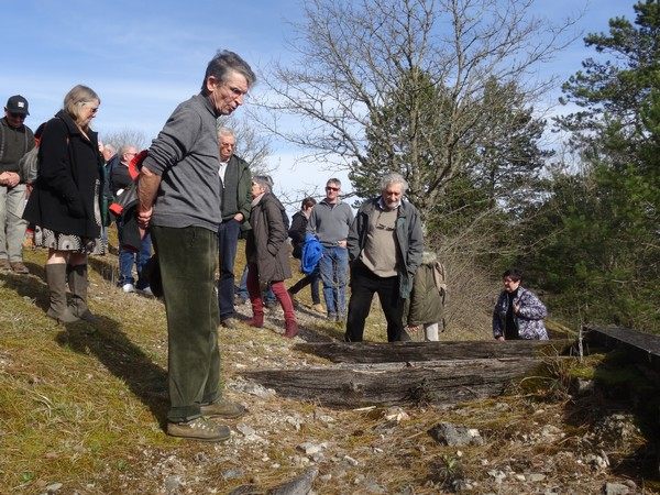 Visite de Vertillum avec Jacky Bénard archéologue...