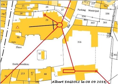 Les emplacements des souterrains et cryptes de Brienon sur Armançon, le 08 09 2016. (Albert Fagioli)