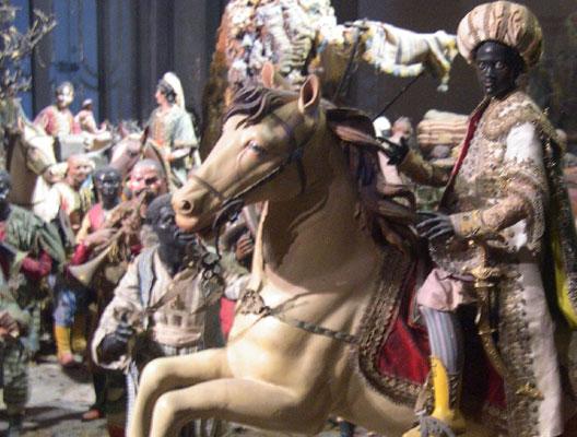 Les rois mages, crèche du palais de Caserte (Campanie), DR