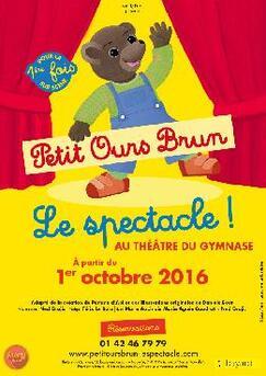 Petit Ours Brun : emmenez votre petit au Théâtre du Gymnase