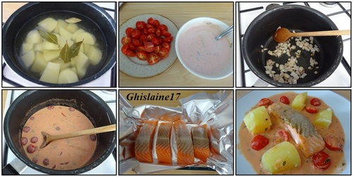 Saumon à la sauce tomatée