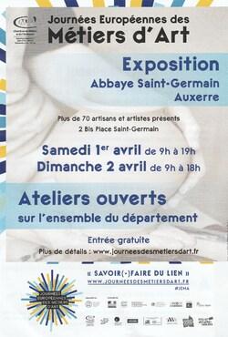 * Journées européennes des Métiers d'Arts Auxerre (89)