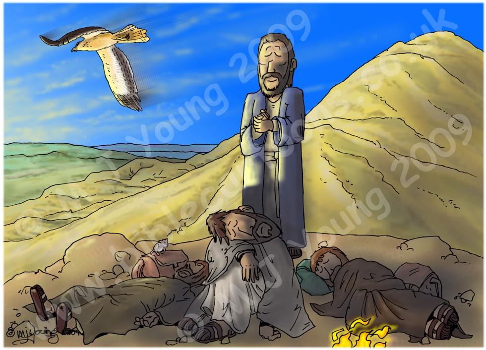 Luke 09 - The Transfig - Scene 02 - Jesus prays