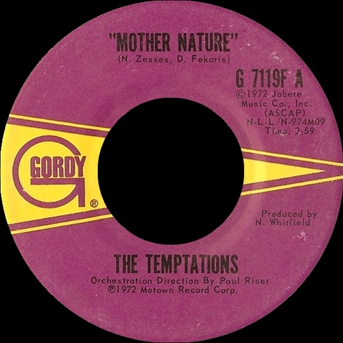 "The Temptations : Album "" All Directions "" Gordy Records G-962L [ US ] en Aout 1972"