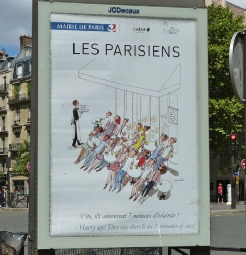 affiche parisien Kanako Raspail 30266