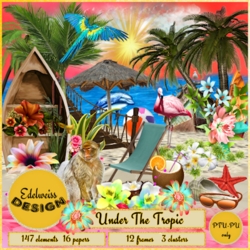 "**CT EDELWEISS DESIGNS*** Beautiful kit ""Under The Tropic"""