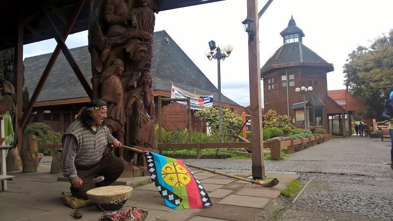 Démonstration du folklore Mapuche