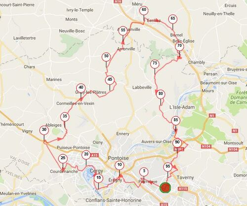 Parcours 95km - La Madelon 2017