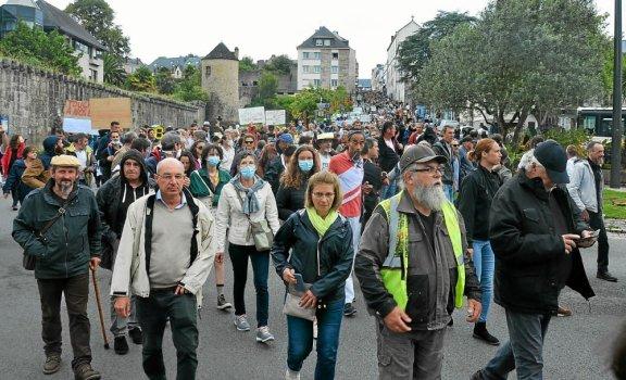 Les opposants ont réussi à mobiliser, ce samedi après-midi, à Quimper.