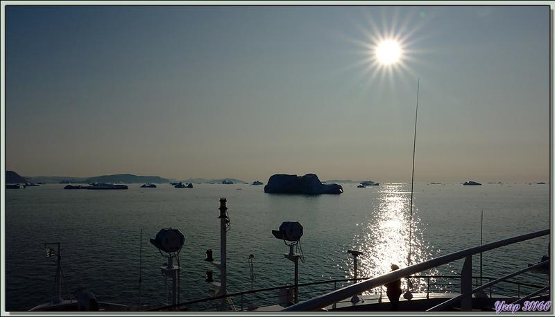 Face au soleil, et réglages adéquats, beau résultat même s'il n'est pas le reflet de la réalité - Cap York (Innaanganeq) - Groenland