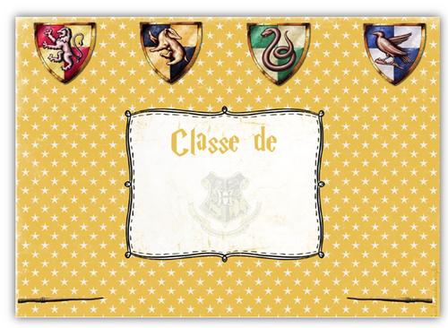 Affichage porte de Classe Harry Potter