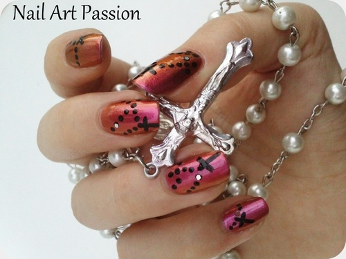Nail art chapelet !