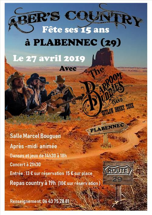 affiche - abers country fete ses 15 ans 27-04-2019