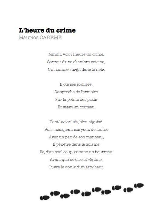 l'heure du crime - Maurice Carême