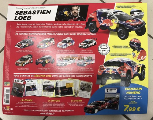 N° 1 Les Véhicules de Sébastien Loeb - Lancement