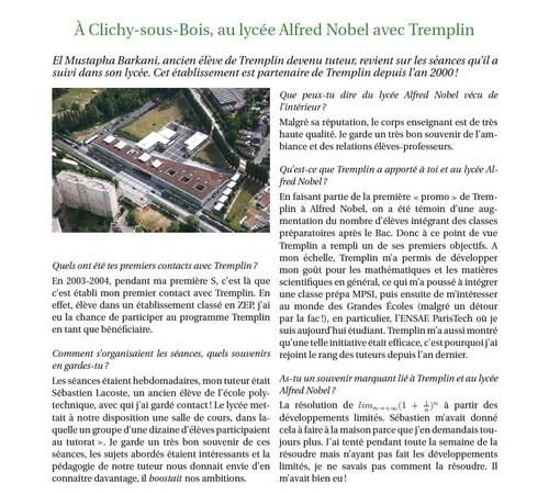 MUSTAPHA ET L'ASSOCIATION TREMPLIN