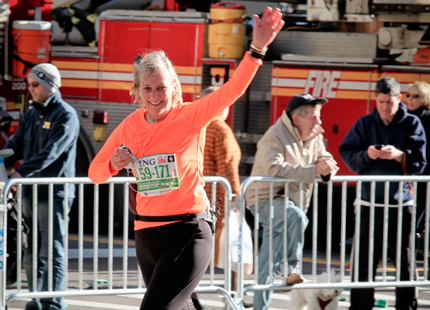 Astrid en famille au marathon