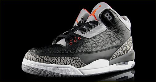 Air Jordan III Black Cement Retro 2011